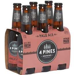 Beer Australian Beer 4 Pines Pale Ale Bottles 330ml x6 pack
